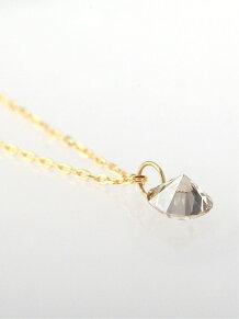 (W)ヌーディーダイヤ・1粒ネックレス[0.3ct]