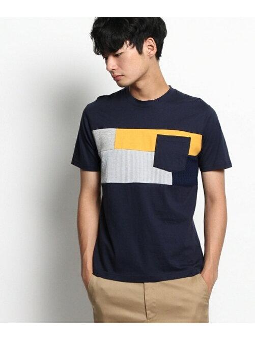 ファブリック切替Tシャツ
