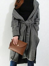 Herringbone Gown Coat