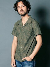 CTN/LI BOTANICAL OPEN COLLAR SHIRTS S/S