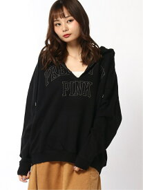 X-girl CUT OFF PULLOVER SWEAT HOODIE エックスガール カットソー パーカー ブラック グリーン オレンジ【送料無料】