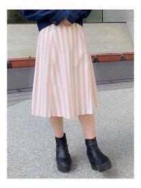 【SALE/85%OFF】dazzlin ストライプフレアスカート ダズリン スカート フレアスカート ピンク グリーン ネイビー