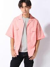 (M)タイプライターオープンカラー半袖ワイドシャツ
