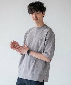 coen USAコットンビッグシルエットポケットTシャツ コーエン カットソー Tシャツ グレー ホワイト ブラウン
