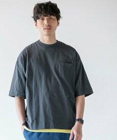 【SALE/10%OFF】coen USAコットンリラックスシルエットポケットTシャツ コーエン カットソー Tシャツ グレー ホワイト ブラウン ピンク グリーン ブルー