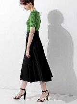 ○UWCE ベルト サーキュラー ロングスカート