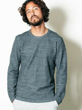 WOOL/CTN QUARTER W FACE C/N L/S