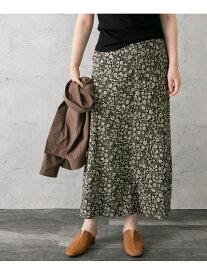 【SALE/50%OFF】ROSSO オリジナルプリントスカート アーバンリサーチロッソ スカート スカートその他 ブラック ベージュ ブラウン【送料無料】