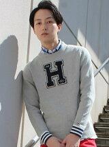 (M)コットンクルーネックセーター