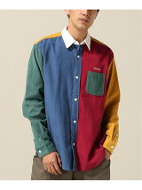 ONLY NY CORDUROY COLOR BLOCK SHIRT
