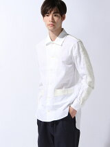 綿麻ツイルロングシャツ