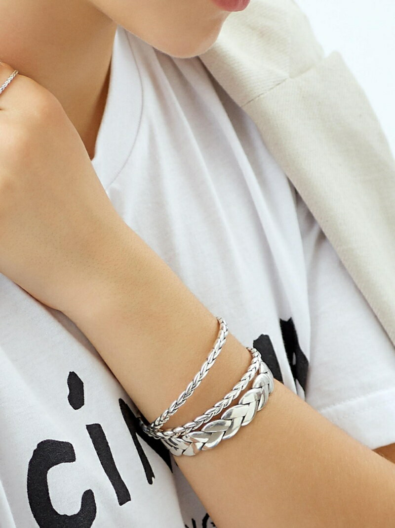 Jewel Changes 【WEB限定】◎PHILIPPE AUDIBERT ツイストクロスブレスレット SIL / Fillan bracelet / フィリップオーディベール / ア ジュエルチェンジズ アクセサリー【送料無料】