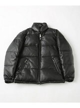 LEATHER DOWN JKT