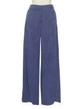 Jetsetter trousers ストライプワイドパンツ