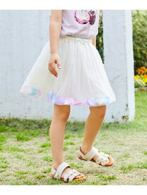 【SALE/50%OFF】any FAM KIDS 花びらチュールスカート エニィファム スカート ロングスカート ホワイト パープル