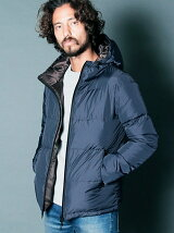 NYLON AQUA GUARD ZIP HOOD DOWN PARKA