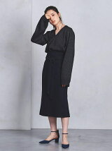 UWCS ヘリンボーン ベルト スカート