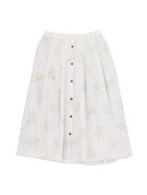【SALE/71%OFF】dazzlin ブーケ柄ウッドボタンスカート ダズリン スカート フレアスカート パープル ブラウン