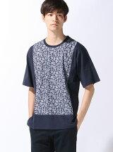(M)パネルペイズリーTシャツ