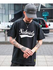 Subciety Subciety/(M)GLORIOUS S/S サブサエティ カットソー Tシャツ ブラック ホワイト【送料無料】