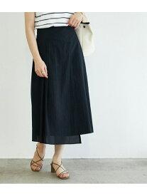 【SALE/60%OFF】ROPE' 【セットアップ対応】タックフレアローンスカート ロペ スカート スカートその他 ブラック ブラウン【送料無料】