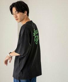【SALE/70%OFF】coen ロゴバックプリントハーフスリーブTシャツ コーエン カットソー Tシャツ ブラック ホワイト グレー