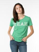 グラフィックTシャツ-グリーン/YEAH