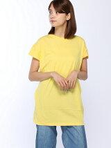 ツイストデザインロング丈Tシャツ