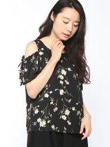 S・肩開き花柄/TOPS
