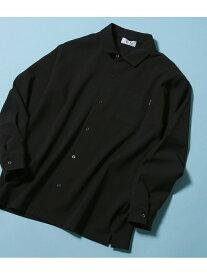ADAM ET ROPE' ポリカット オープンカラーシャツ アダムエロペ シャツ/ブラウス シャツ/ブラウスその他 ブラック グレー ベージュ【送料無料】