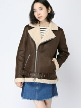 FAUX SHEARLING RIDERS JACKET