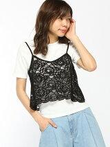 C・レースキャミ+Tシャツ/SET
