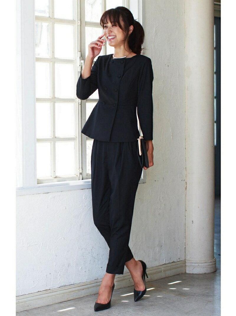 【SALE/37%OFF】Dress Lab Dress Lab/ノーカラーペプラムフォーマルスーツ クリーム ビジネス/フォーマル【RBA_S】【RBA_E】【送料無料】