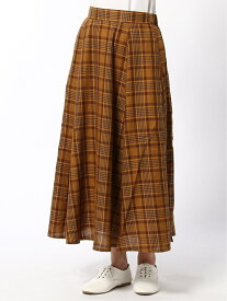 Lugnoncure Lugnoncure/コットンリヨセルスカート テチチ スカート フレアスカート オレンジ パープル ベージュ【送料無料】
