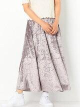 CRASHベロアマキシスカート