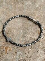 Wrapping texture beads hematite anklet