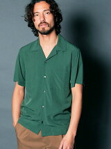RAYON OPEN COLLAR SHIRTS S/S