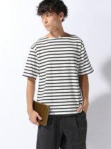 OE天竺ボーダーバスクシャツ
