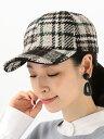 SHIPS WOMEN FERRUCCIOVECCHI:チェックキャップ シップス 帽子/ヘア小物 帽子その他 ホワイト【送料無料】
