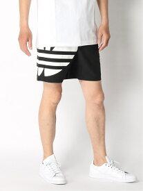 【SALE/50%OFF】adidas Originals ビッグ トレフォイル スイム ショーツ [BIG TREFOIL SWIM SHORTS] アディダスオリジナルス アディダス スポーツ/水着 スポーツウェア ブラック レッド