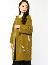 裾刺繍コクーンコート