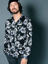 PE FLOWER PRINT OPEN/C SHIRTS L/S