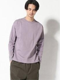 【SALE/23%OFF】WEGO WEGO STANDARD/(M)ドライタッチロンT ウィゴー カットソー Tシャツ パープル ベージュ グレー ブラック ホワイト レッド