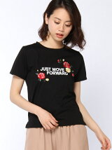 C・花刺繍ロゴ/T