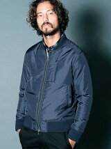 NYLON THINSULATE RIB BLOUSON