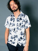 PE FLOWER PRINT OPEN/C SHIRTS S/S