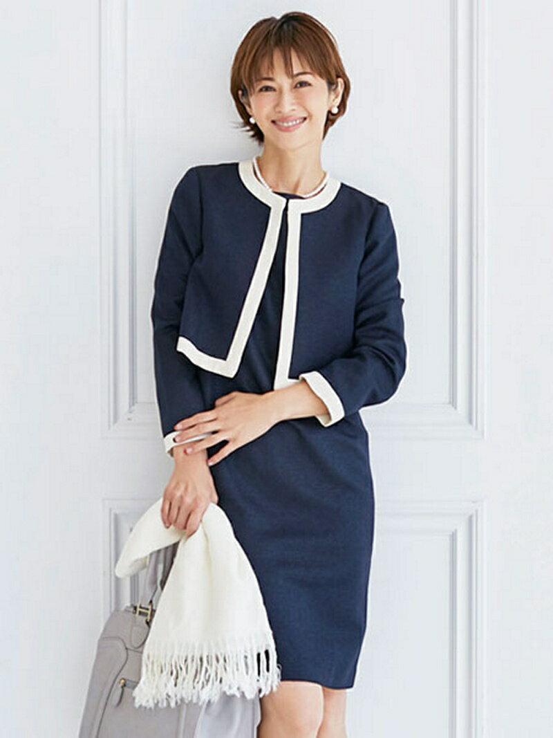 【SALE/44%OFF】Dress Lab Dress Lab/ツイードワンピースセットアップ クリーム ビジネス/フォーマル【RBA_S】【RBA_E】【送料無料】