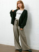 7/21C・サッシュ付グレンチェック柄ワイド/PT