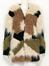 MIX FAKE FUR COAT
