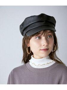 【SALE/30%OFF】ViS モール&エコレザーキャスケット ビス 帽子/ヘア小物 帽子その他 グレー ブラック ベージュ